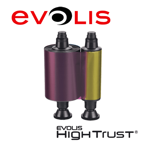 Works Like Evolis R3011 compatible R3011 Ruban de couleur 5 panneaux